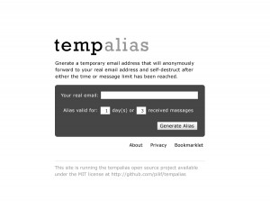 Mockup of the tempalias website design